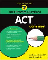1001 ACT Practice Questions for Dummies