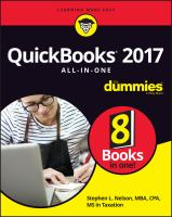 QuickBooks 2017 All-in-one for Dummies
