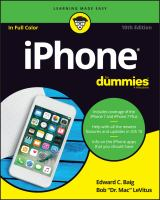 IPhone For Dummies