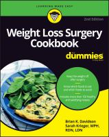Weight Loss Surgery Cookbook
