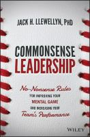 Commonsense Leadership