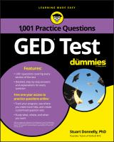 1,001 GED Test Practice Questions