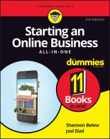 Starting An Online Business All-in-one for Dummies®