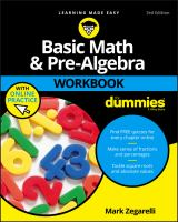 Basic Math & Pre-algebra Workbook