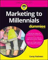 Marketing to Millennials for Dummies®