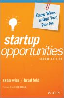 Startup Opportunities