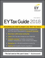 The EY Tax Guide 2018