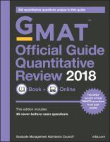 GMAT™ Official Guide Quantitative Review 2018