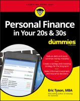 Personal Finance in your 20s & 30s