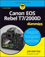 Canon EOS Rebel T7/2000D