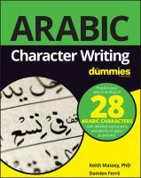 Arabic Character Writing