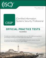 (ISC)p2 sCISSP Certified Information Systems Security Professional Official Practice Tests