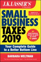 J.K. Lasser's Small Business Taxes 2019