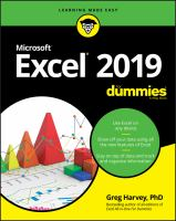 Excel 2019 for Dummies