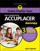 Next-generation Accuplacer for Dummies