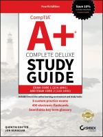 CompTIA A+ Complete Deluxe Study Guide :  Exam 220-1001 and Exam 220 -1002