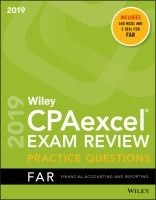 Wiley CPAexcel Exam Review Practice Questions 2019