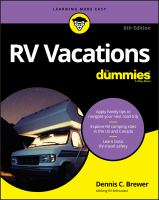 RV vacations for dummiesxii, 434 pages ; 23 cm.