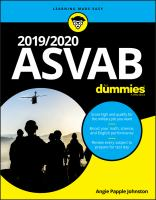 2019/2020 ASVAB for Dummies