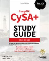 CompTIA Cybersecurity Analyst (CySA+) Study Guide