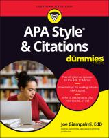 APA Style & Citations For Dummies