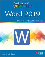 Teach Yourself Visually Word 2019