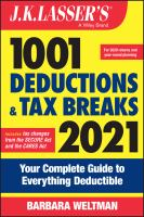 J.K. Lasser's 1001 Deductions and Tax Breaks 2021