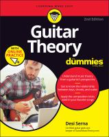 Guitar Theory For Dummies With Online Practice