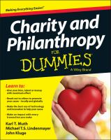 Charity & Philanthropy for Dummies