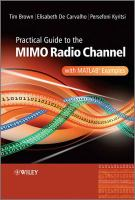 Practical Guide to the MIMO Radio Channel With MATLAB Examples
