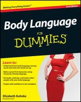 Body Language for Dummies [electronic Resource]