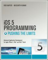Pushing the Limits With IOS 5 Programming