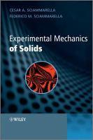 Experimental Mechanics of Solids