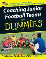 Coaching Junior Football Teams for Dummies [electronic Resource]