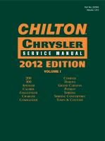 Chilton Chrysler Service Manual