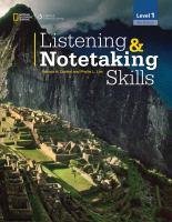 Listening & Notetaking Skills