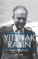 Yitzhak Rabin: A Political Biography