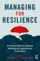 Managing for Resilience