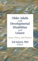 Older Adults With Developmental Disabilities and Leisure