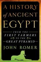 A History of Ancient Egypt, Volume 1