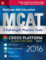 McGraw-Hill Education MCAT 2016