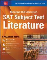 SAT Subject Test, Literature