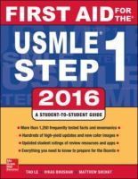 First Aid for the USMLE Step 1 2016