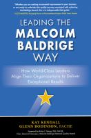 Leading the Malcolm Baldrige Way