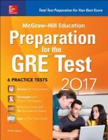 McGraw-Hill Education Preparation for the GRE Test
