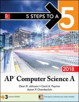 AP Computer Science A 2018