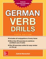 German Verb Drills