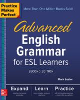 Advanced English Grammar for ESL Learners