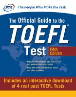 Official Guide to the TOEFL Test With Downloadable Tests