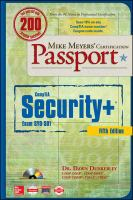 Mike Meyers' CompTIA Security+ Certification Passport, (Exam SY0-501)